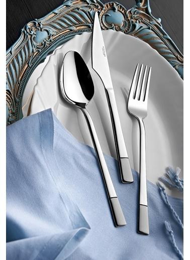 Yetkin Alya Saten 36 Parça Çatal Bıçak Seti Renkli